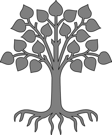 roots template tree roots silhouette clip clipart best