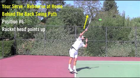 Tennis Topspin Serve Swing Path Yours Can Look Like This