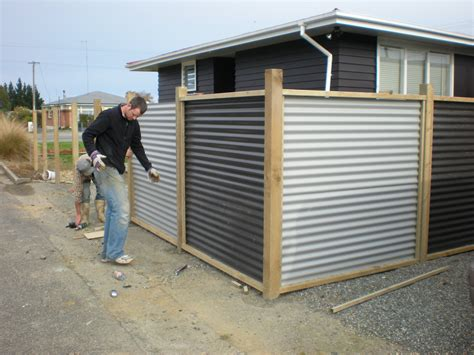 Tin Wainscoting Corrugated Metal Fence Panels Fences Pinteres
