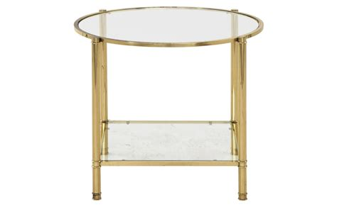 brass side table vintage brass side table jayson home