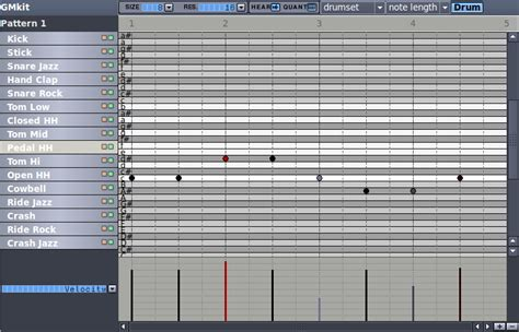 drum pattern editor hydrogen a free powerful drum machine musicainformatica org