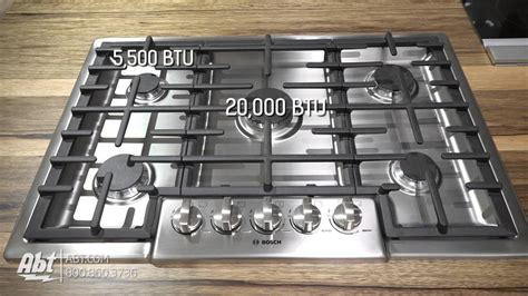 bosch ngm8055uc 30 inch gas bosch benchmark series 30 quot stainless steel gas cooktop