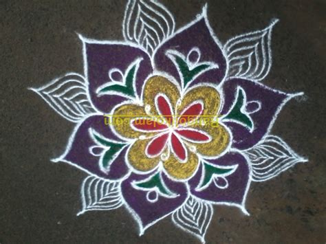 design flower kolam with dots free kolam coloring pages