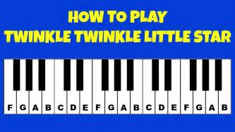 Letter How To Play How To Play Twinkle Twinkle Piano Keyboard Tutorial Letter Notes Easy
