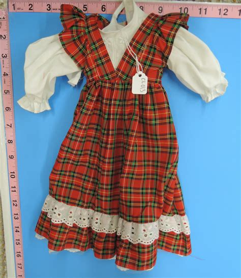 Paid Dress cl013 paid jumper style dress doll clothes and