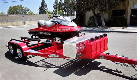 jet ski on boat trailer shad 2 pwc trailer red custom boat trailers pwc