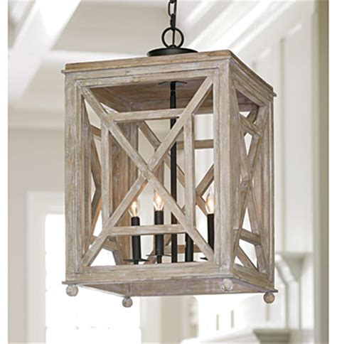wood lantern pendant light cedros coastal weathered white wood lantern pendant