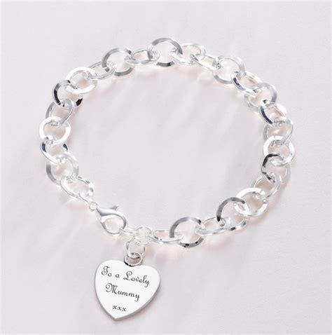 remembrance bracelet with engraved or charm