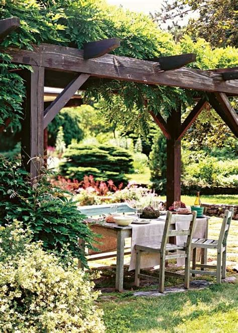 covered outdoor seating arbor and seating garden pinterest