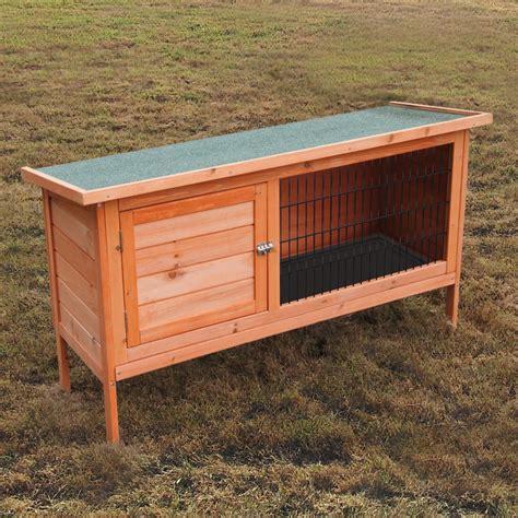 Cheap Rabbit Hutches Ebay napoli 4ft large single tier rabbit hutch cage pet ferret guinea pig house run ebay