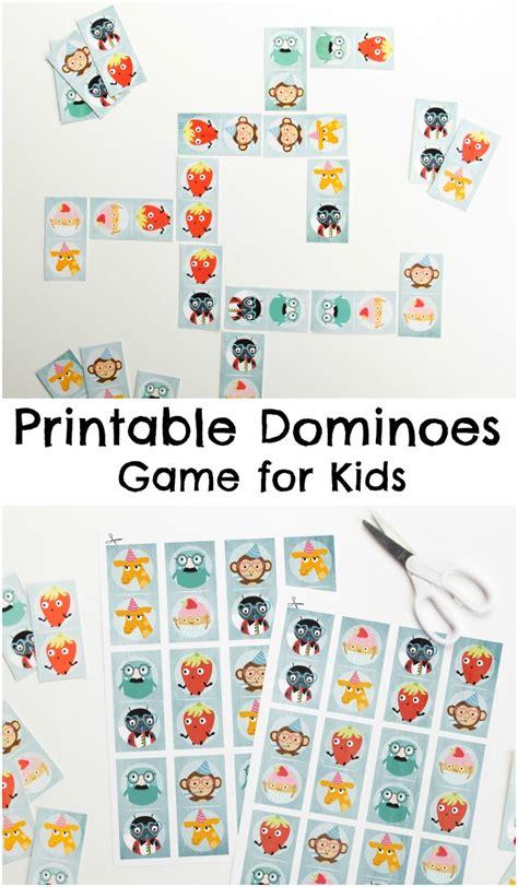 domino for kids children educational game printable printable dominoes game for kids in the playroom