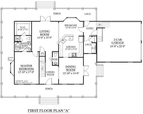 Two Story House Plans With Master On First Floor | house plan 2341 a montgomery quot a quot first floor plan