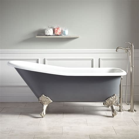 bathroom with clawfoot tub 66 quot goodwin cast iron clawfoot tub imperial feet dark