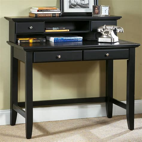 furniture writing desk with brown wall design and black