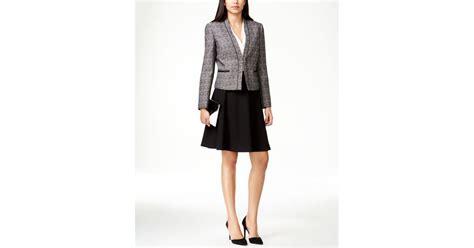 tahari by arthur s levine contrast tweed a line skirt