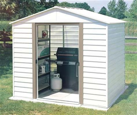 Metal Storage Shed Kits by White Dallas 8 W X 6 D Arrow Metal Storage Shed Kit