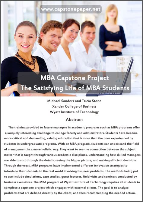 Mba Capstone Ideas by All You Need To Complete Your Mba Capstone Project