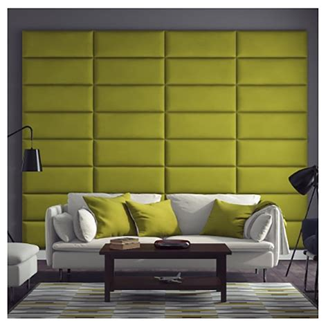upholstered padded wall panel in faux leather