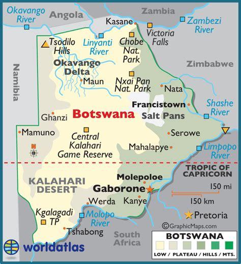 africa map botswana map of botswana republic of botswana maps mapsof net