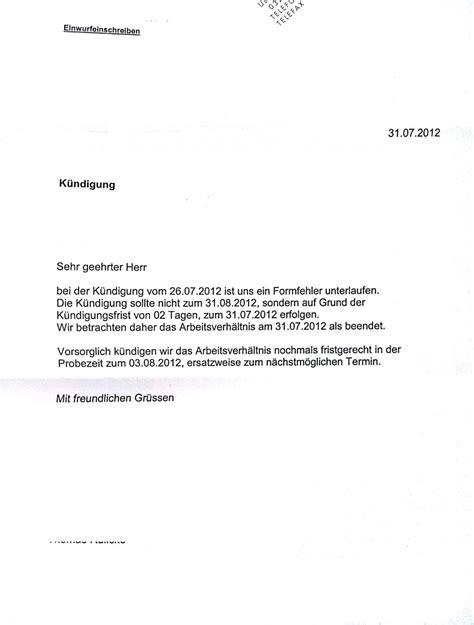 Brief Schreiben Muster Links Kuendigung Arbeitsvertrag Muster Wohnung Kuendigung