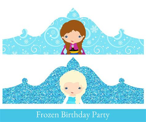 Frozen Crown Princess Elsa Birthday Crown Crown Printable Frozen Princess Pictures Printable