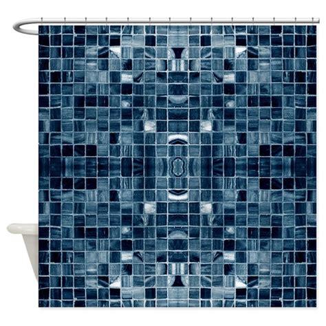 blue mosaic shower curtain blue mosaic tiles shower curtain by zazzlingdesigns