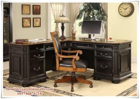 Meja Kantor Set meja kantor jati minimalis meja kantor jati meja kantor
