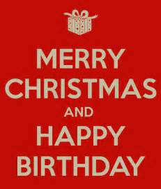 Happy Merry - merry and happy birthday poster helene keep