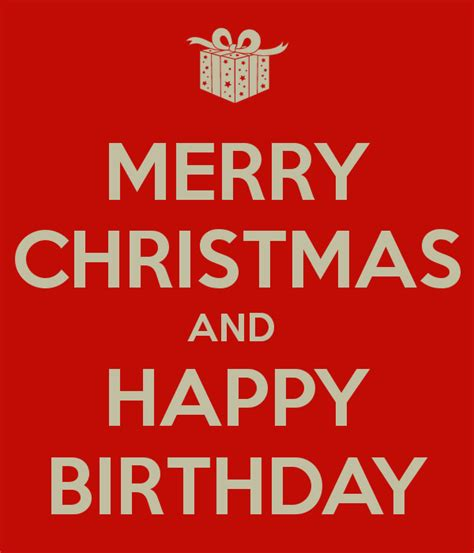 Happy Birthday And Merry Card Merry Christmas And Happy Birthday Poster Helene Keep