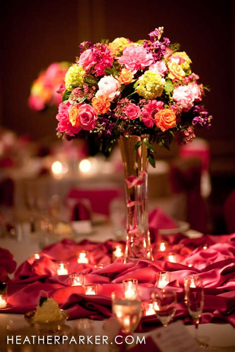 flowers wedding centerpieces saman s above we a large tulle dress with black bow by vera wang and hairpiece