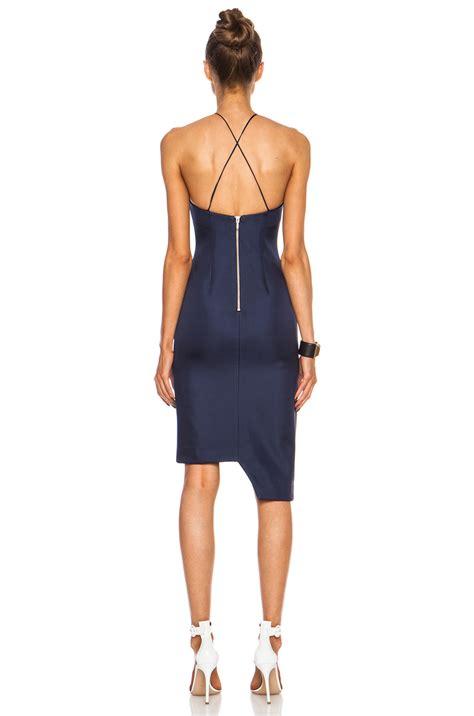 Blue Silk Backless Dress nicholas backless silk dress in blue lyst