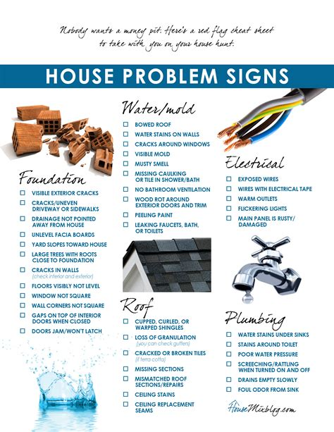 looking for houses moving part 3 problems to look for when buying a house checklist house mix