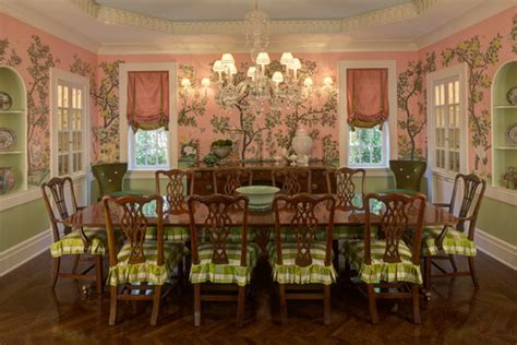 Dining Room Pink And Green Colorful Home Decor
