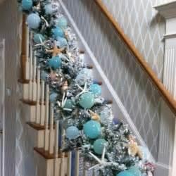 coastal garland christmas decor pinterest