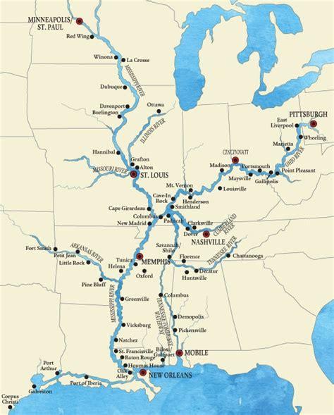 map of the mississippi river mississippi river mississippi river