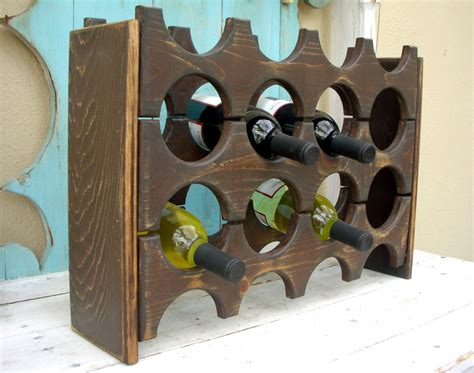 Handmade Wine Rack - handmade wine rack wood handcrafted wooden holds 12