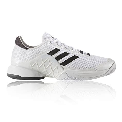 adidas barricade  mens white tennis court sports shoes