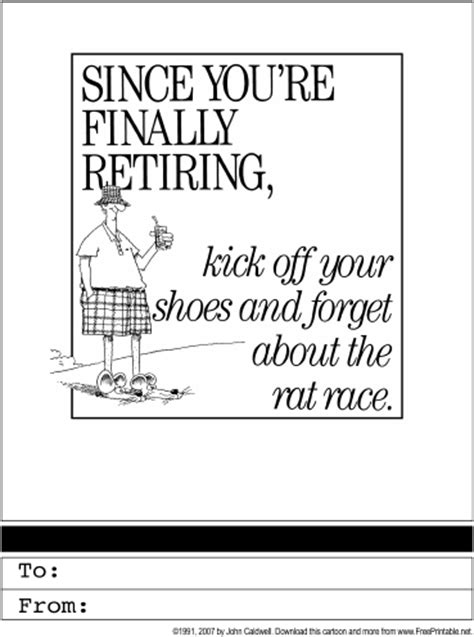 printable retirement images retirement printable greeting card