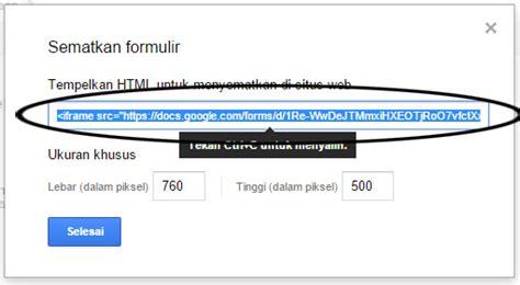 memasang google form  halaman blog mas rudy