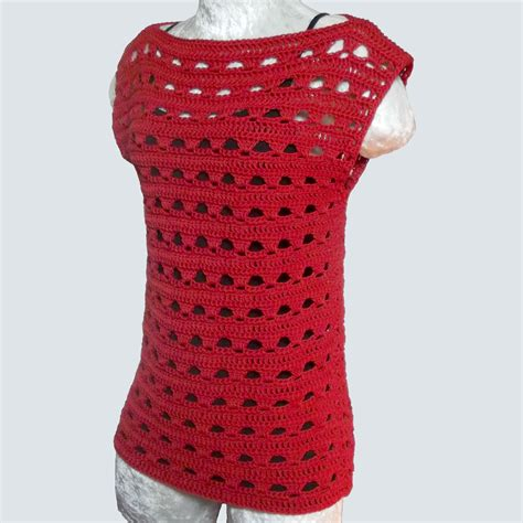 pattern for simple top simple lace summer top crochetn crafts