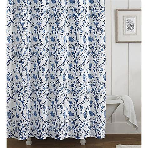 laura ashley blue curtains laura ashley 174 charlotte shower curtain in blue bed bath