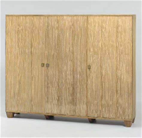 a limed oak three door cabinet jean michel frank
