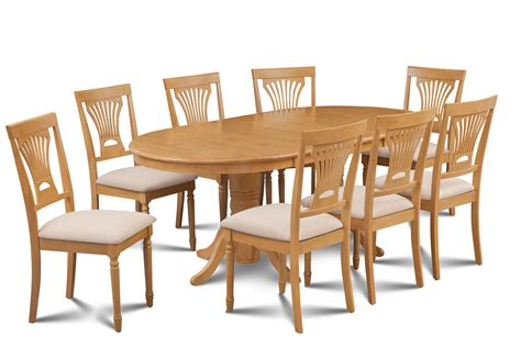 9 pc vancouver oval dinette kitchen dining room set table 9 piece oval dining room table set w 8 soft padded chairs