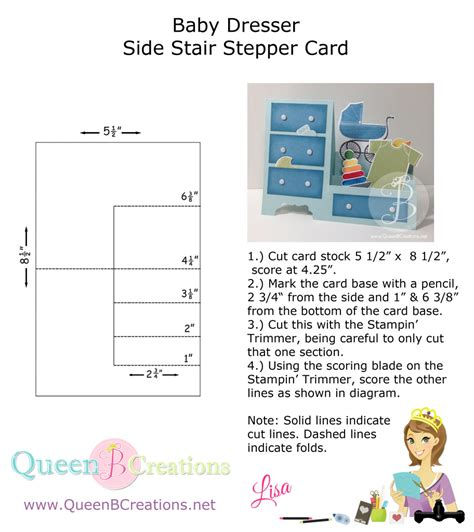 Side Step Dresser Card Template by Something For Baby Dresser B Creations