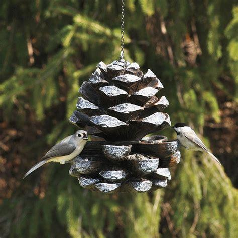 Cool Bird Feeders Pine Cone Bird Feeder The Green