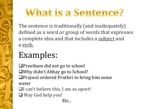 completed definition completed definition declarative sentences