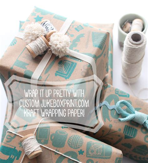 wrap it pretty with custom wrapping paper from
