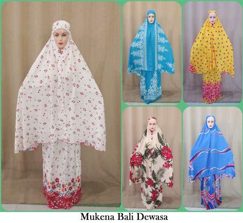 Mukena Ibu Anak Katun Rayon Bali Grosir Murah Dewasa Jumbo sentra grosir mukena bali dewasa motif baru murah 60ribu