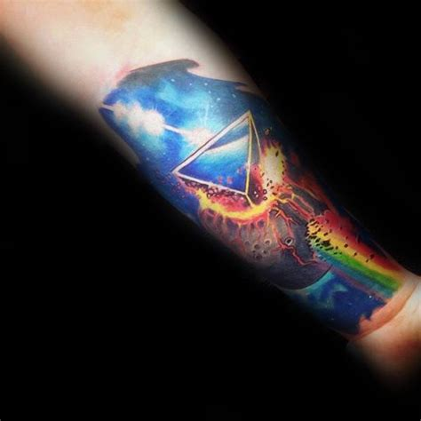 50 dark side of the moon tattoo designs for men pink