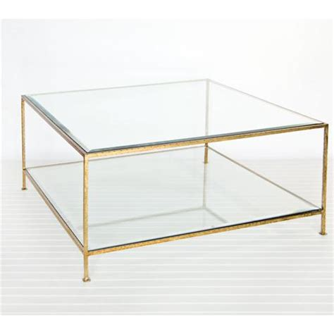 quadro gold leaf square coffee table from worlds away